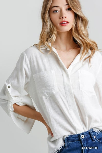 BUTTON DOWN LONG SLEEVE SHIRT *Final Sale*