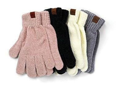 soft chenille gloves