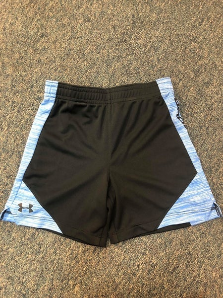 BOYS UNDER ARMOUR BLACK/BLUE SHORTS