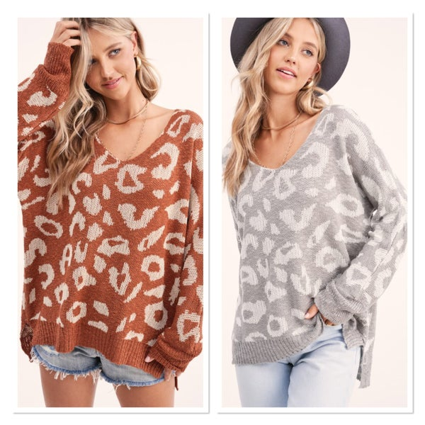 CUDDLE ME LEOPARD SWEATER