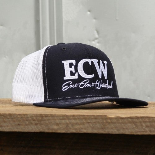 EAST COAST WATERFOWL NAVY/WHITE LOGO HAT