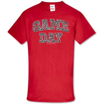 GAME DAY  LEOPARD RED TSHIRT