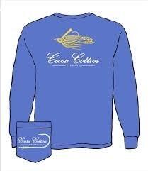 COOSA COTTON BLUE LONG SLEEVE TSHIRT
