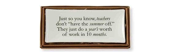 TEACHER TRINKET PLATE
