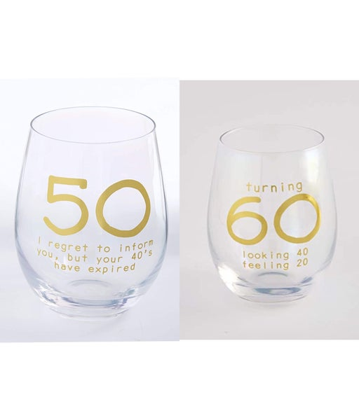mudpie birthday wine glasses