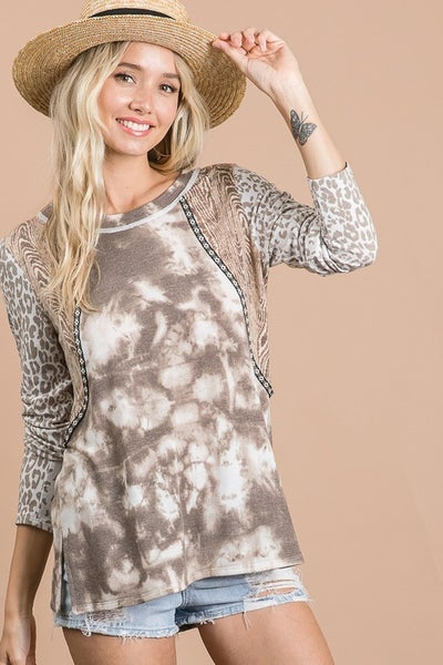 Mix and Match Soft Long Sleeves Top