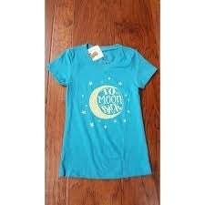 V-NECK TURQUOISE T-SHIRT (TO THE MOON AND BACK)