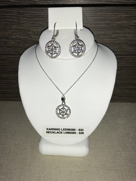 CZ ROUND NECKLACE OR EARRINGS (PRICED SEPARATELY)