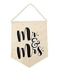 "MUDPIE ""MR. AND MRS."" BANNER"