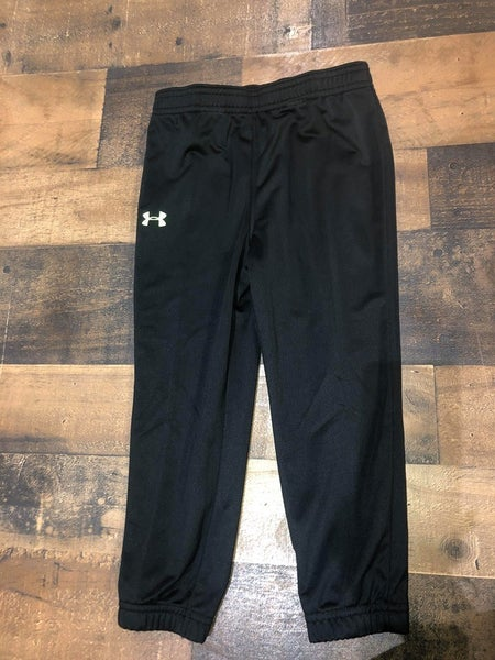 under armor black joggers with green logo