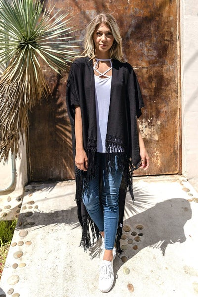 Fringe All the Way Kimono