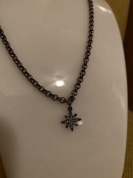 North Star Gunmetal Necklace