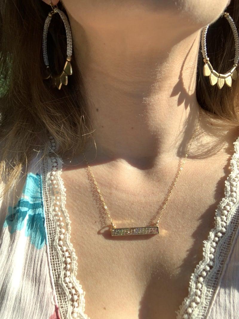 Rectangle Rainbow Necklace