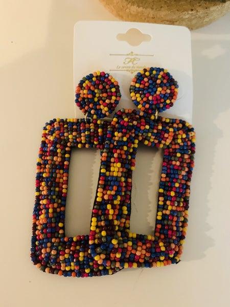 Pop & Lock Seed Bead Earrings