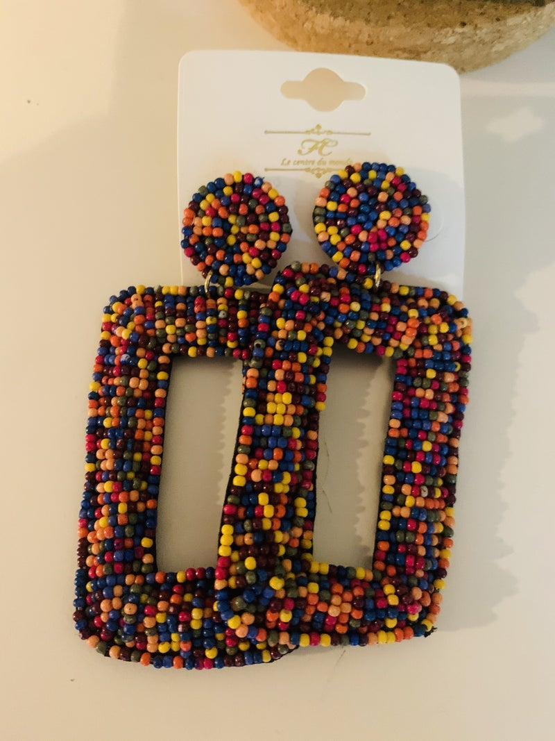 Pop & Lock Seed Bead Earrings