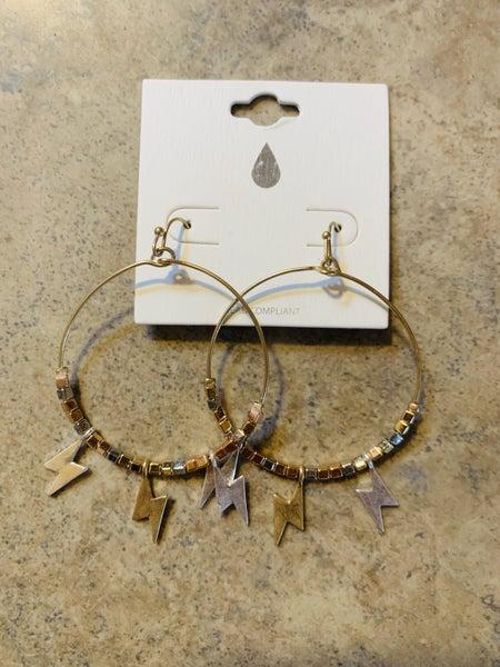 Bolt Beaded Earrings
