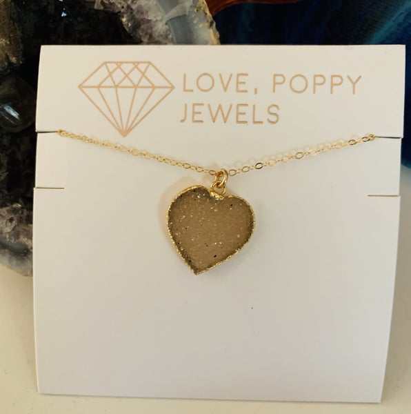 Fill Your Heart Druzy Necklace