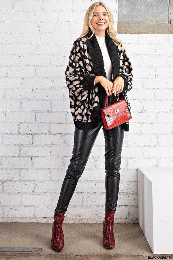Fuzzy Cheetah Cardigan
