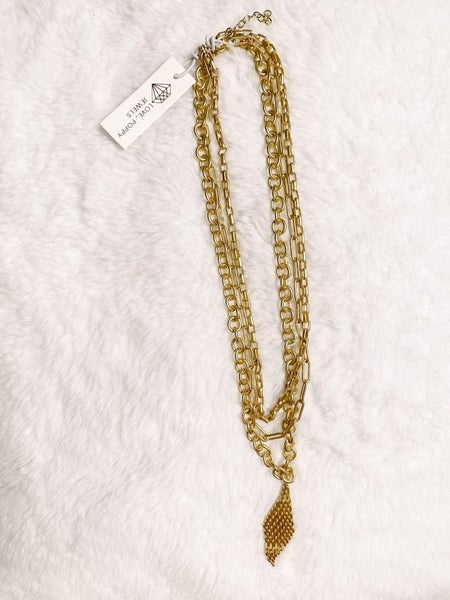 Triple Chain Slay Necklace