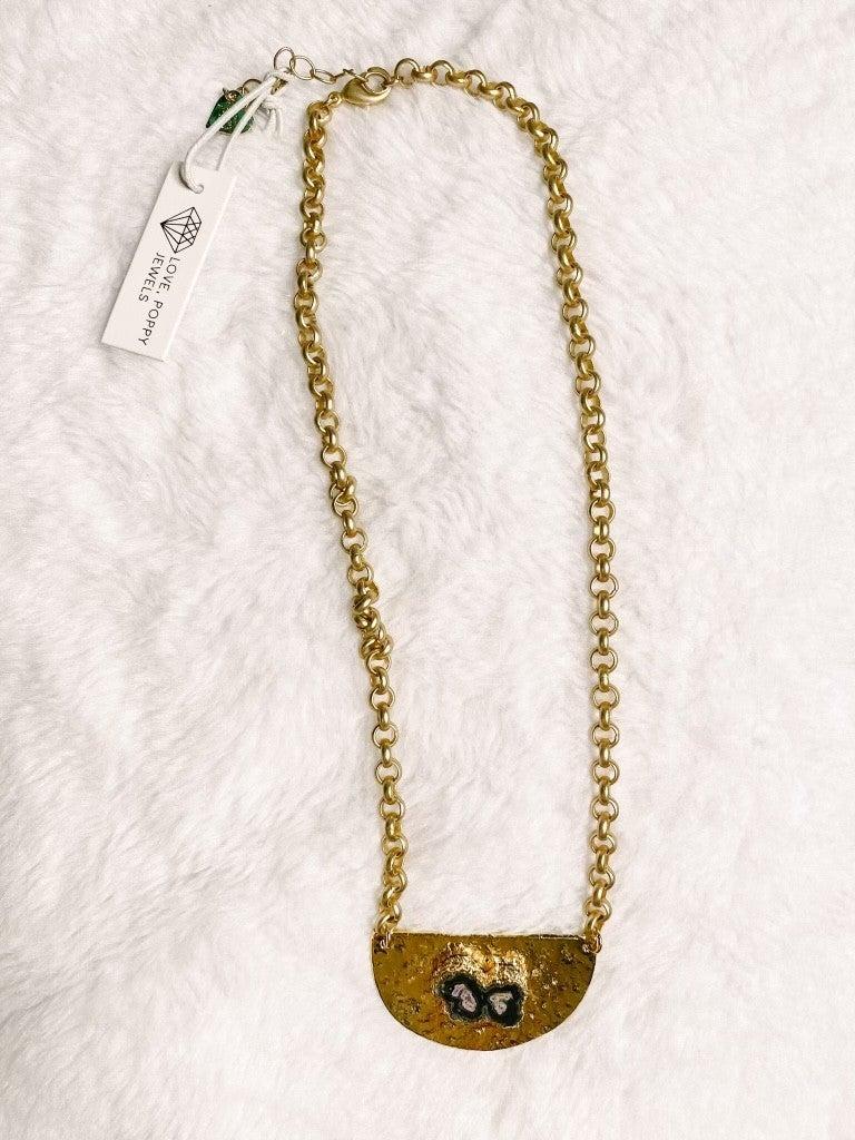 Hammered Luna Necklace