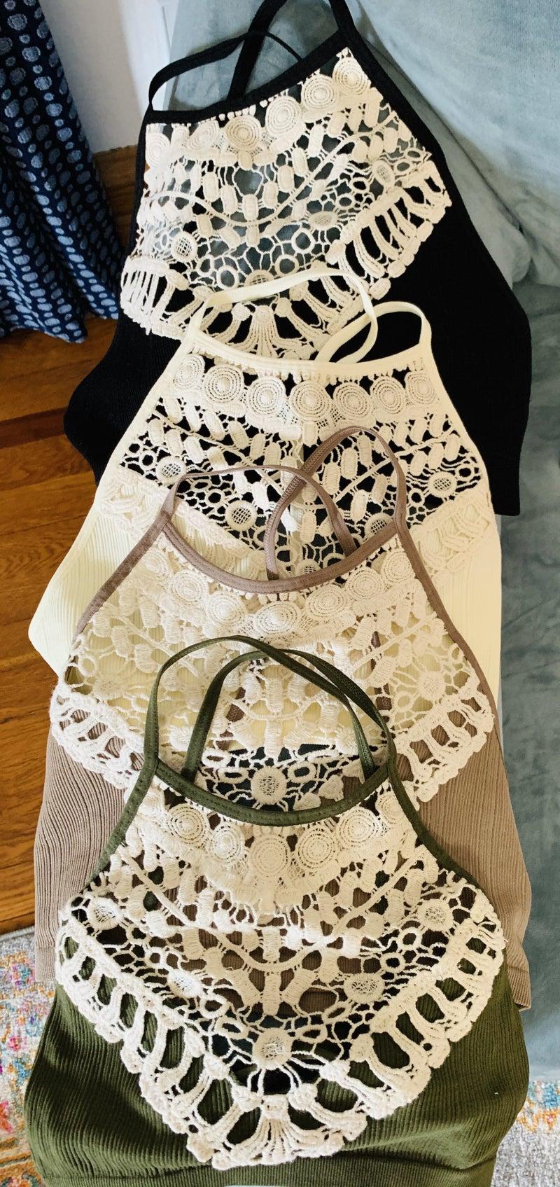 Crochet Lace Bralette +