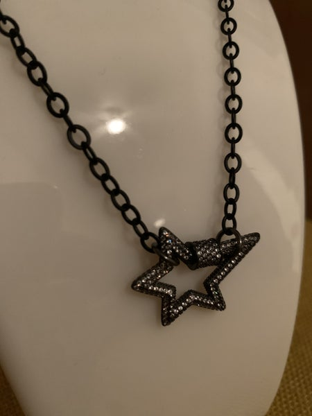 Star Burst Gunmetal Necklace
