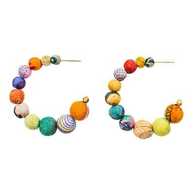 Kantha Conch Hoops