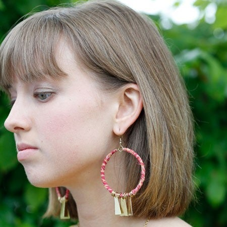 Kantha Charmed Hoops