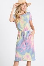 Knot the Norm Tie Dye Dress