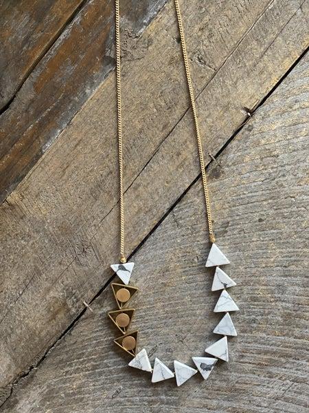 The Petra Gemstone Triangle Necklace