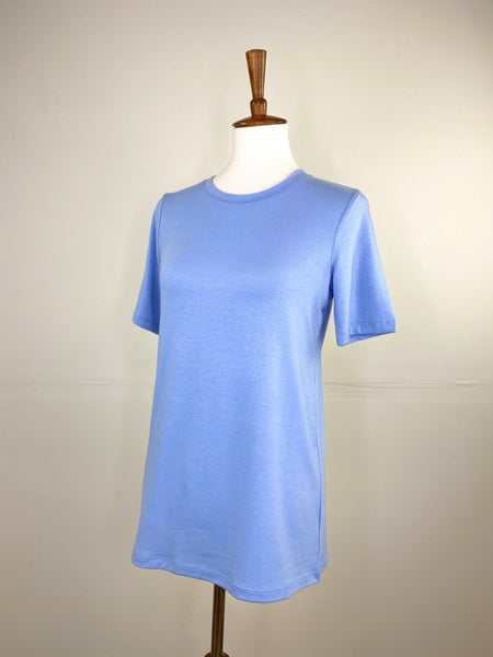 The New Classic Crewneck Tee in Spring Blue
