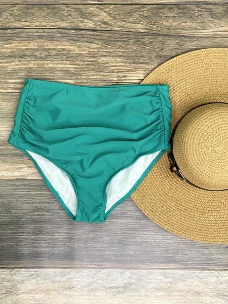High Waisted Green Swimsuit Bottoms