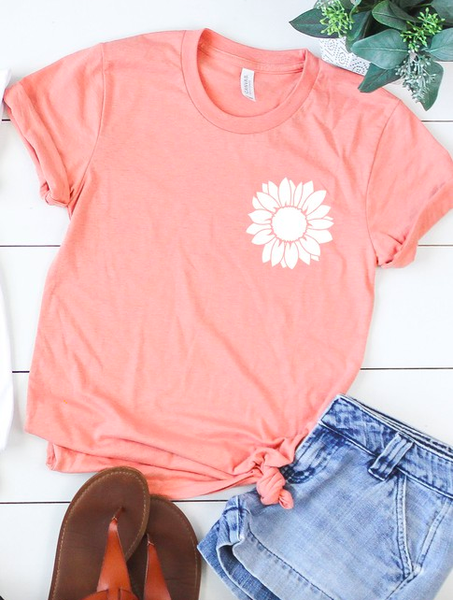 The Sunflower Tee in Heather Sunset