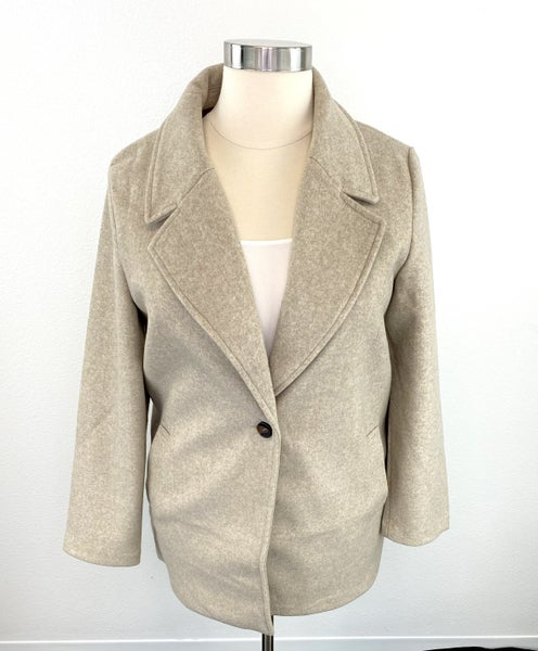 The Sarah Single Breasted Ideal Jacket in Oatmeal