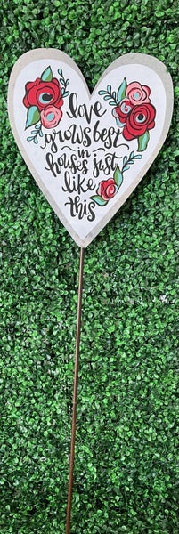 Love Grows Garden Stake
