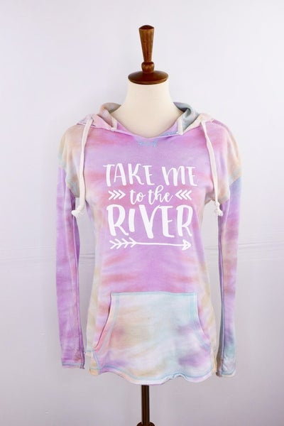 The Tie Dye Sherbet Hoodie: TAKE ME TO THE RIVER Edition