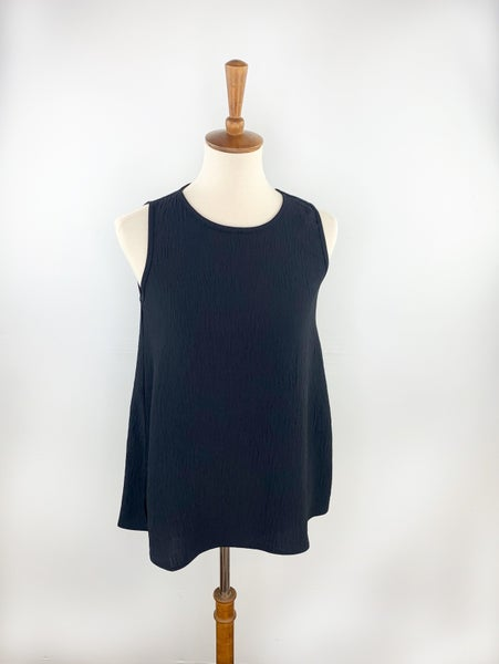The Penny Lane Sleeveless Top in Black