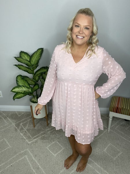 The Barely Pink Babydoll Dress