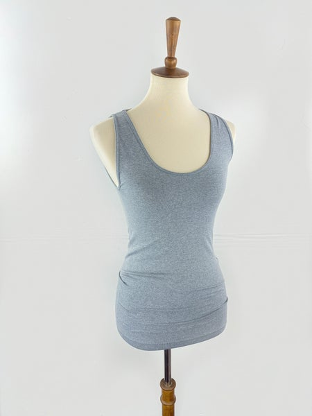 The Seamless Tummy Control Tank in Heather Grey