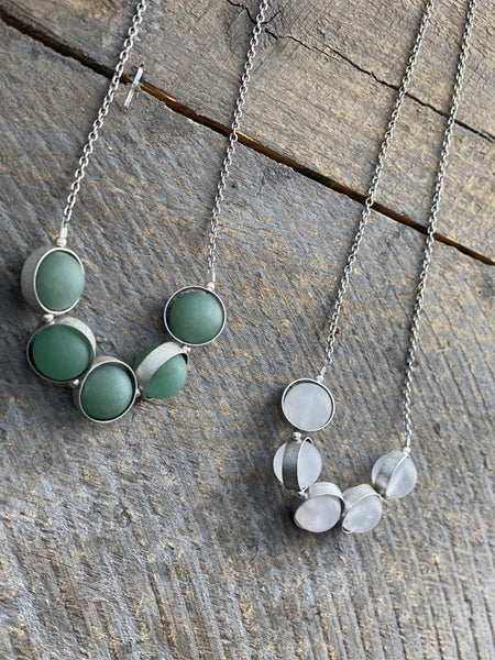 The Alignment Necklace Collection in Silver