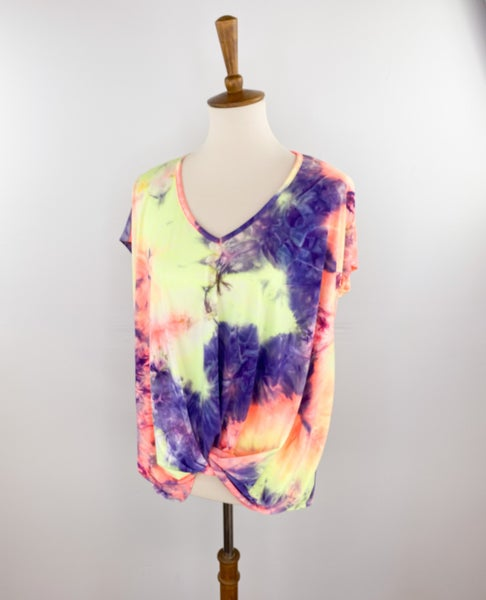 Sunset Twisted Tie Dye Top