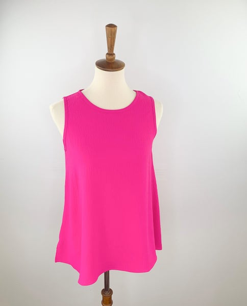 The Penny Lane Sleeveless Top in Positively Pink