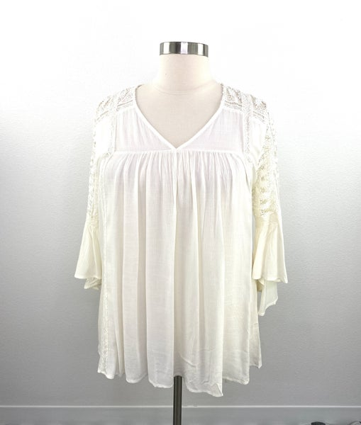The Hailey Harvest Cream Top