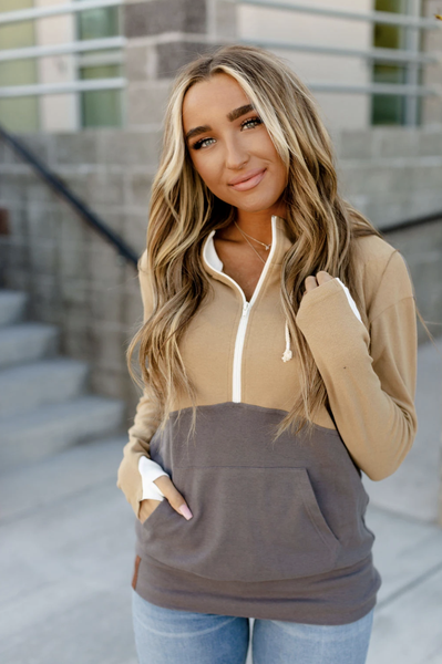 The Happy Camper Half Zip Sweatshirt