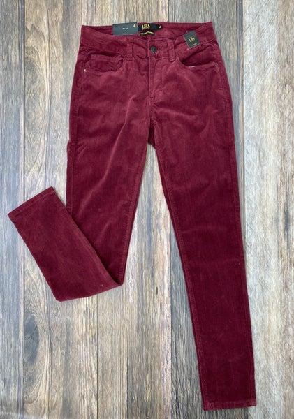 Mary Maroon Corduroy Skinny Pants