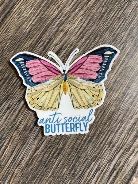 Anti Social Butterfly Decal