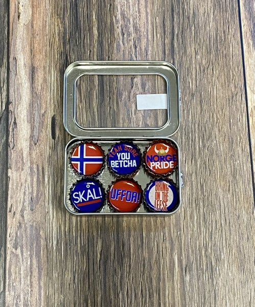Bottle Cap Magnet Sets: UFFDA
