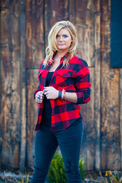 Red + Black Lumber Jack Flannel Shirt