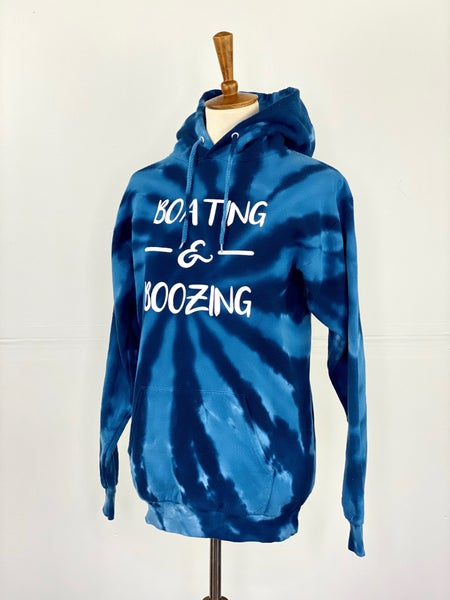 Boating & Boozing Tie Dye Sweatshirt
