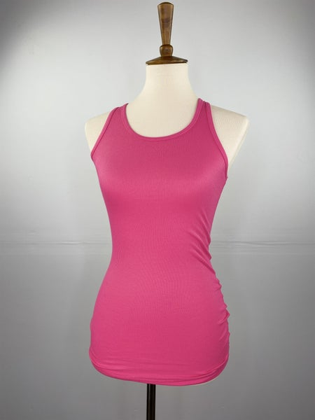 Fitted Ribbed Layering Tank in Fuchsia